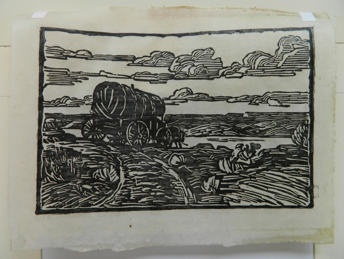 Harriet Kunter woodcut - 6