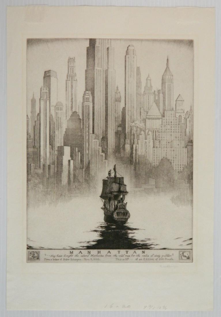 Robert Lawson etching - 2