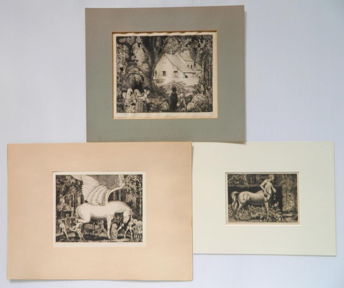 Robert Lawson 3 etchings