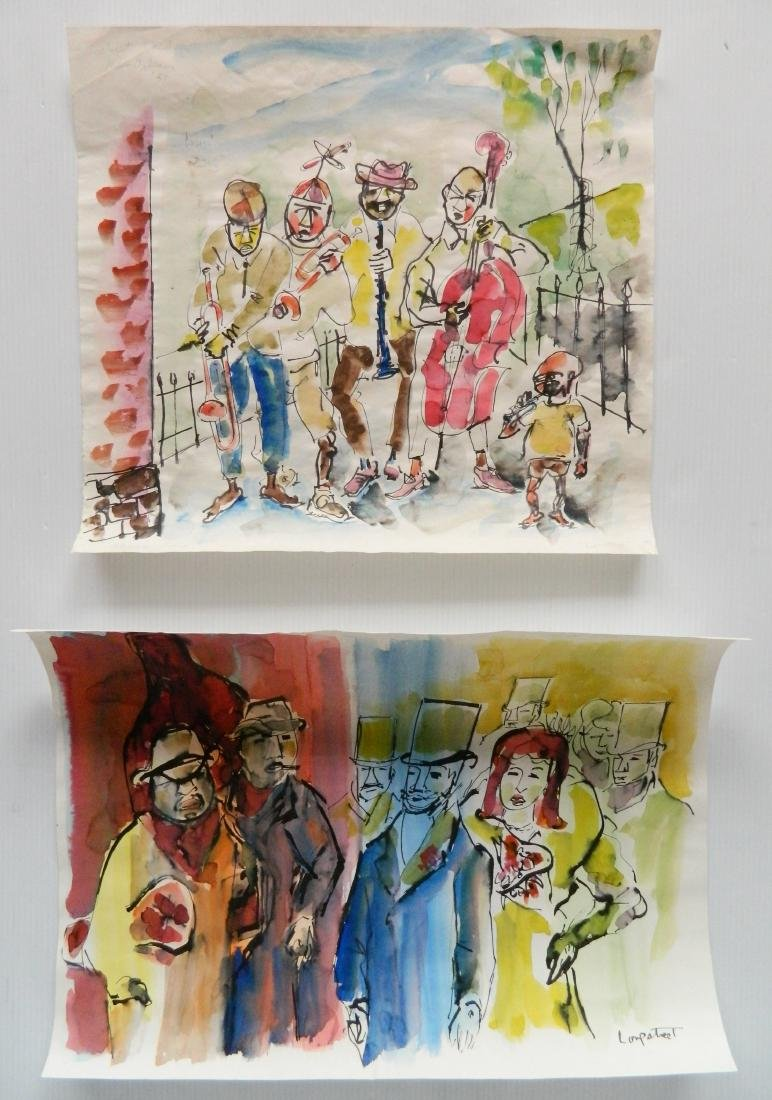 Stephen Longstreet 2 watercolor and pen and ink