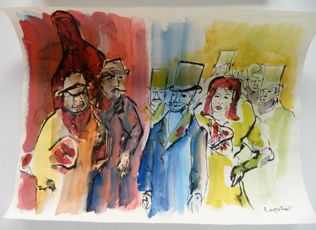 Stephen Longstreet 2 watercolor and pen and ink - 2