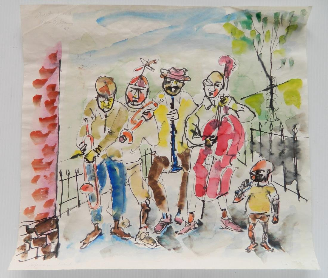 Stephen Longstreet 2 watercolor and pen and ink - 5
