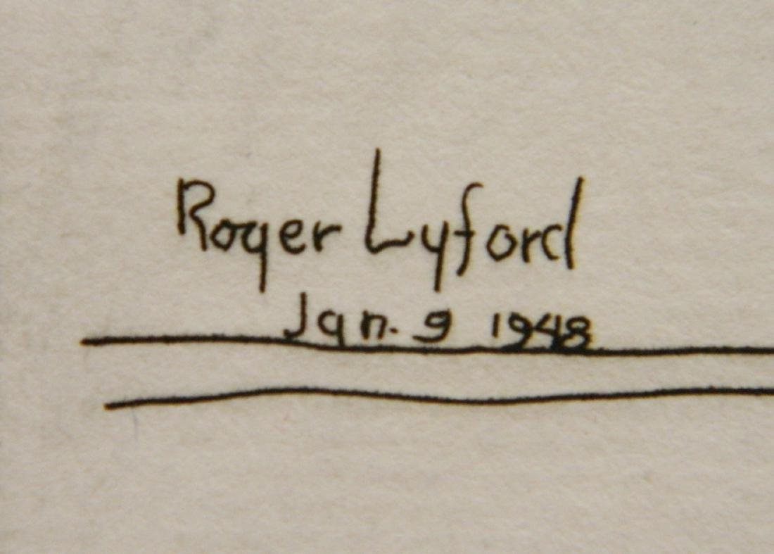 Roger Lyford 2 etchings - 3
