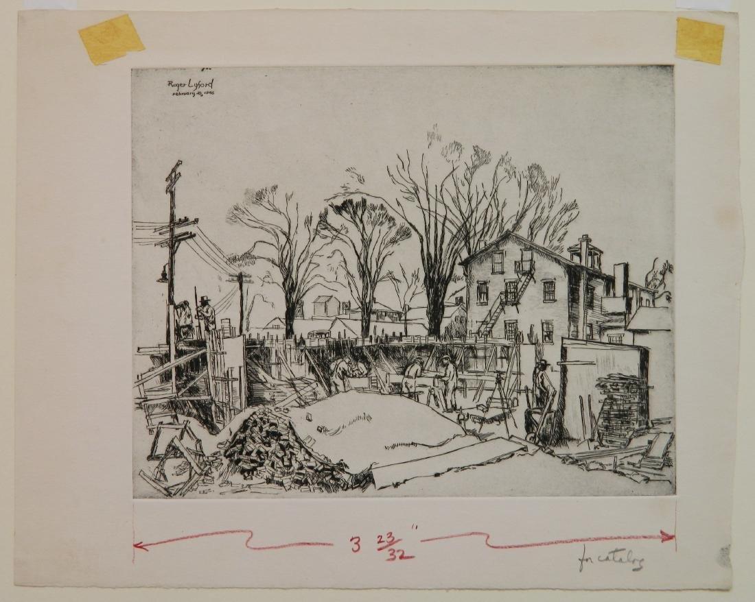 Roger Lyford 2 etchings - 6