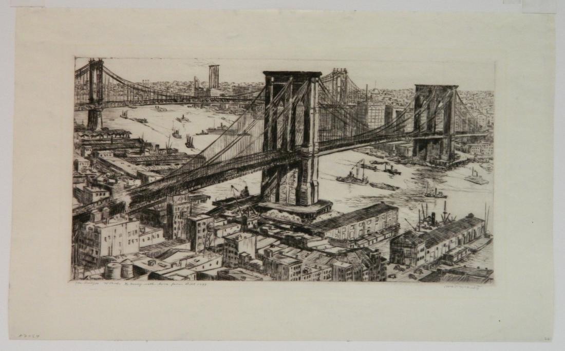 William Mc Nulty etching - 2