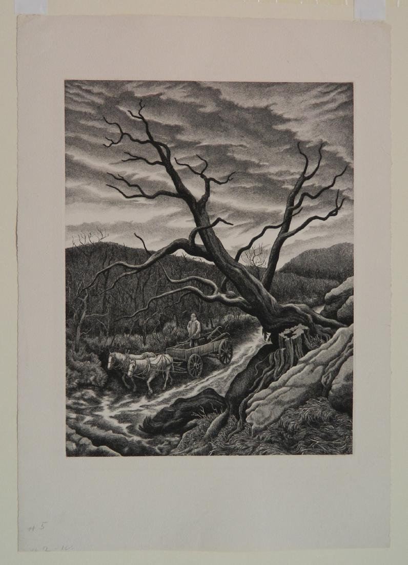 Jackson Lee Nesbitt etching - 2