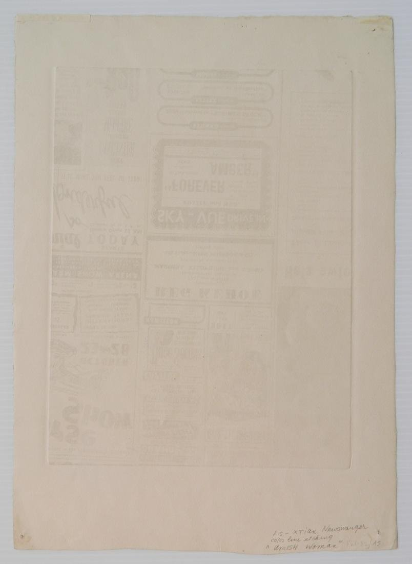 Kiehl and Xtian Newswanger 2 etchings - 8