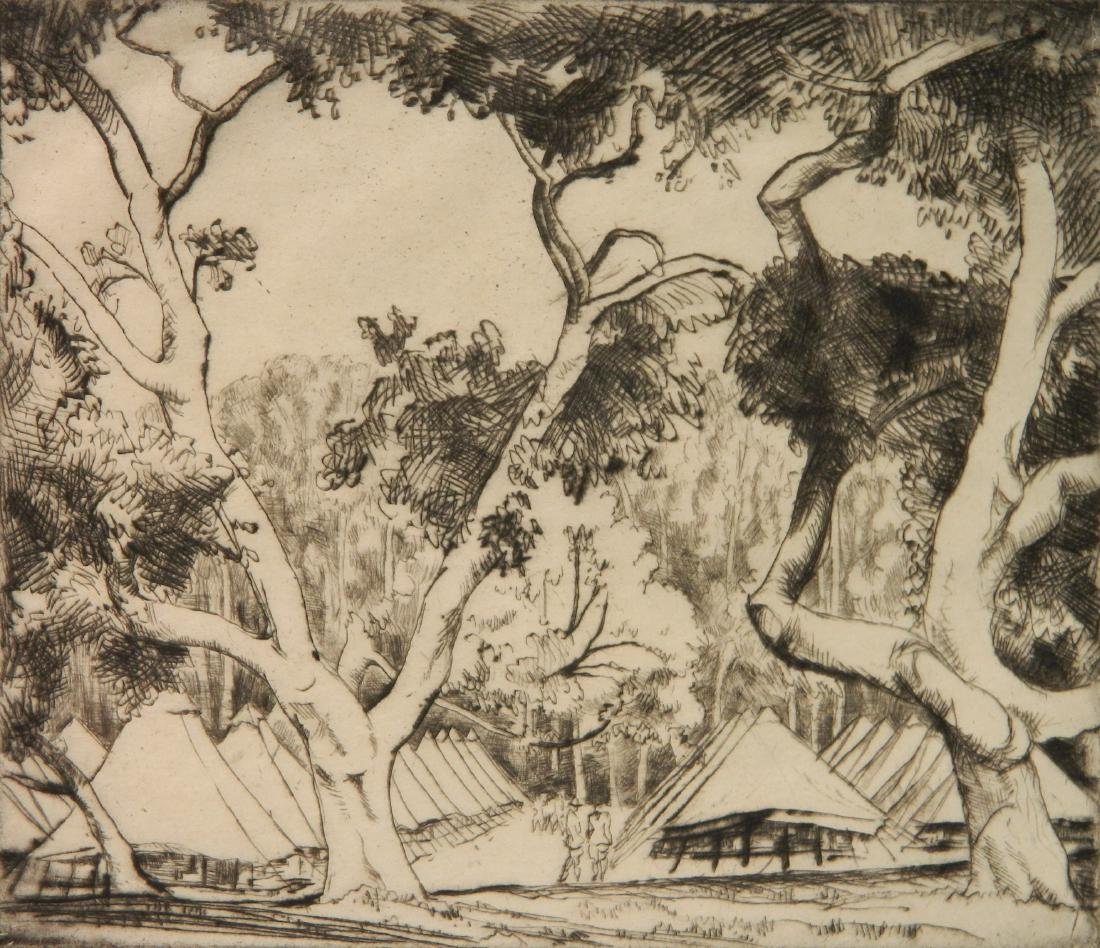 Bror J. O. Nordfeldt 2 etchings - 2