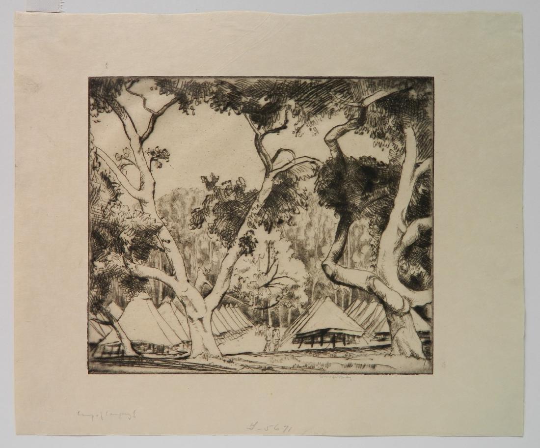 Bror J. O. Nordfeldt 2 etchings - 3