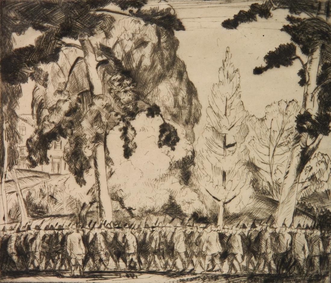 Bror J. O. Nordfeldt 2 etchings - 6