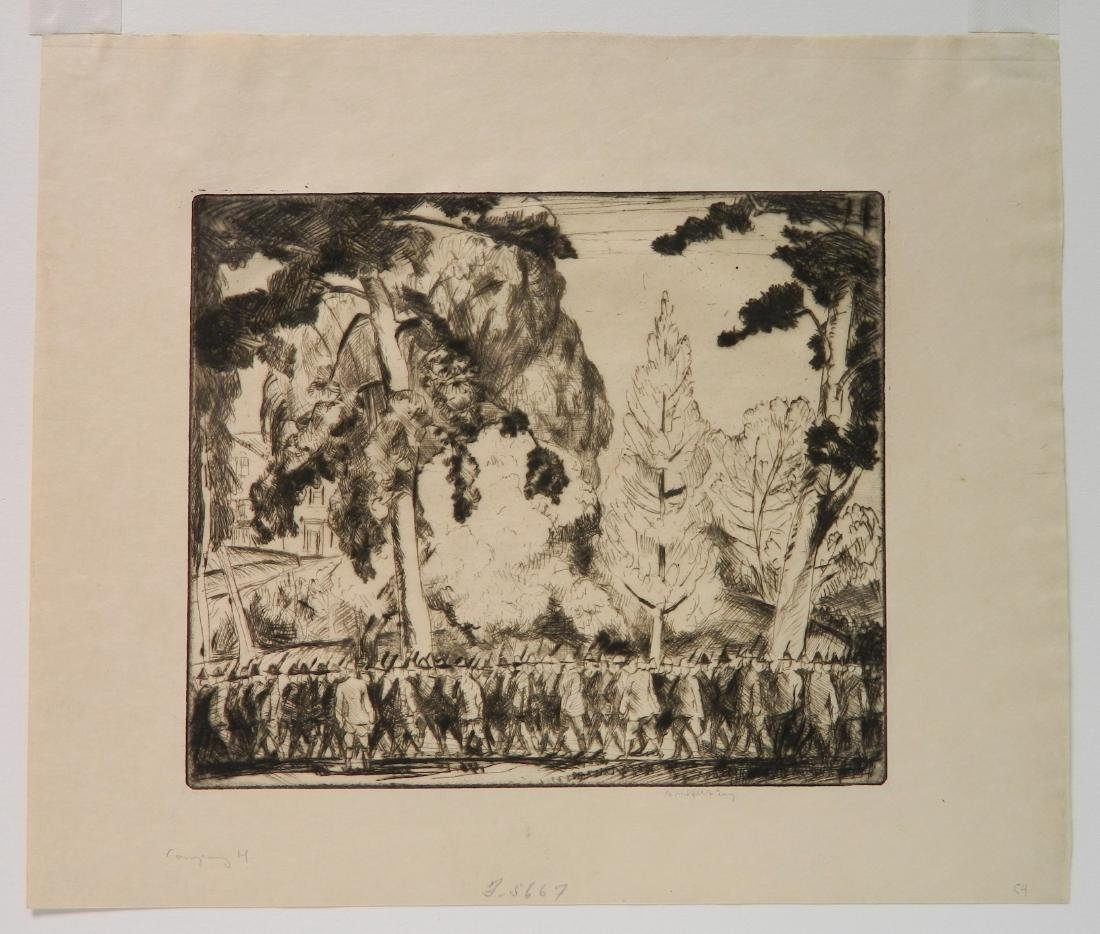 Bror J. O. Nordfeldt 2 etchings - 7