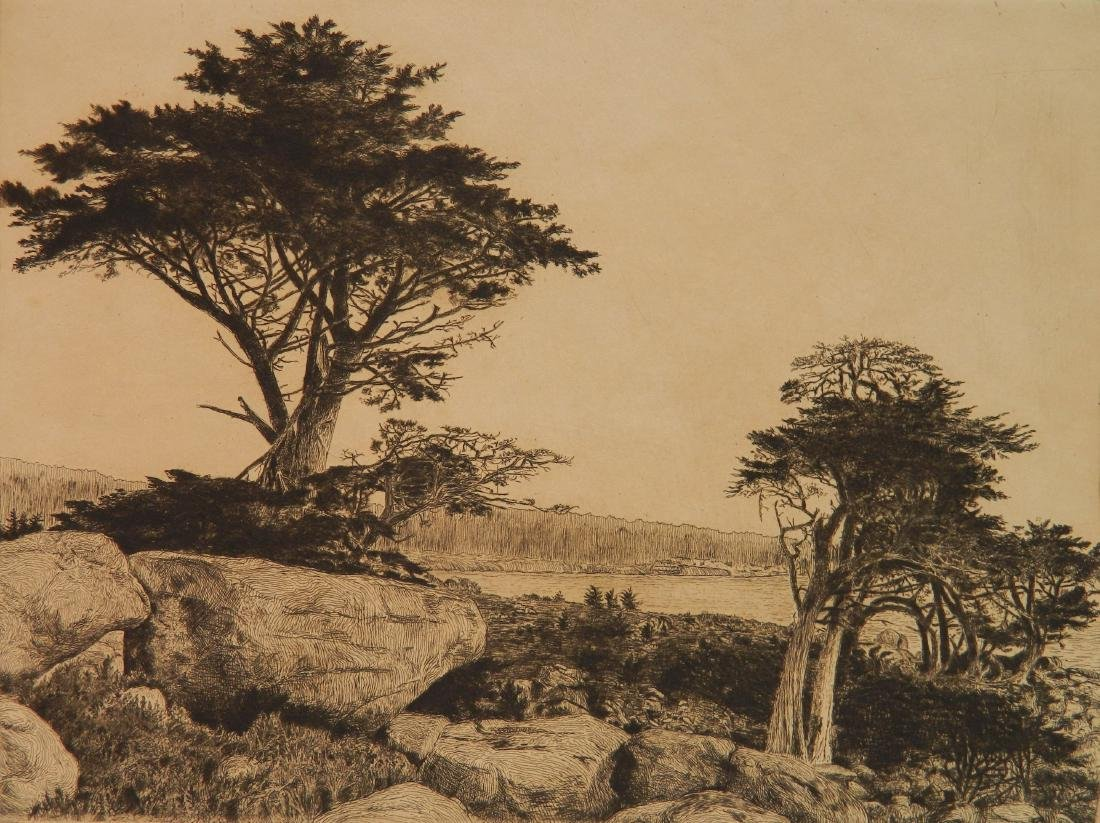William C. Ostrander etching