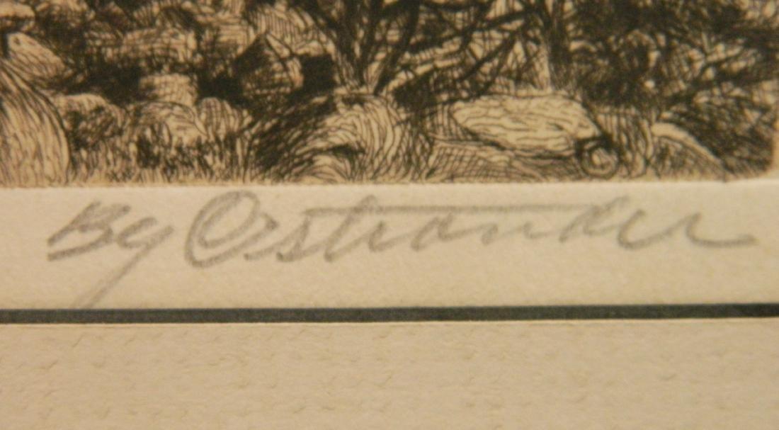 William C. Ostrander etching - 3