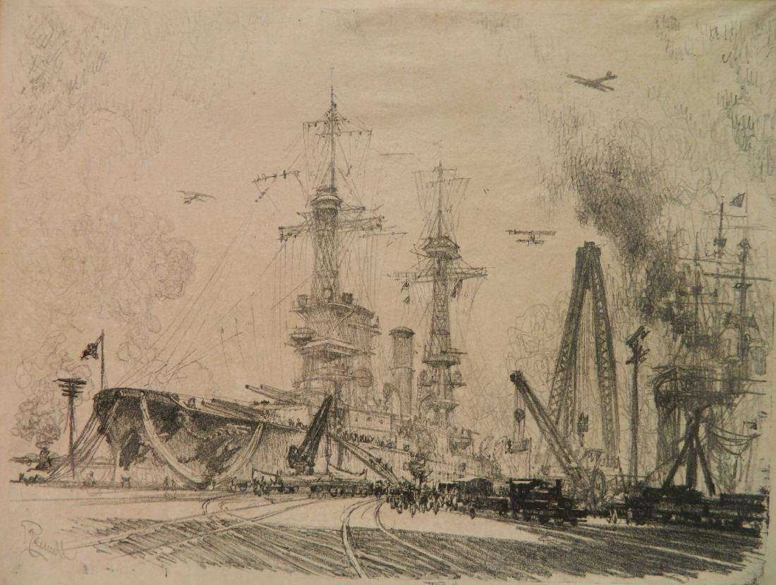 Joseph Pennell lithograph