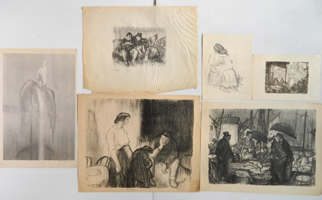 Henry P. Raleigh 6 lithographs