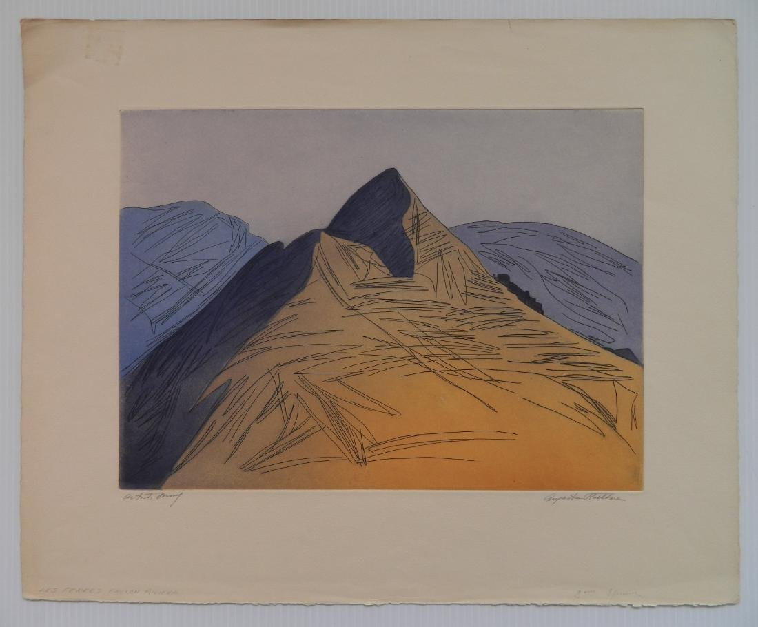 Augusta Rathbone etching and aquatint - 2