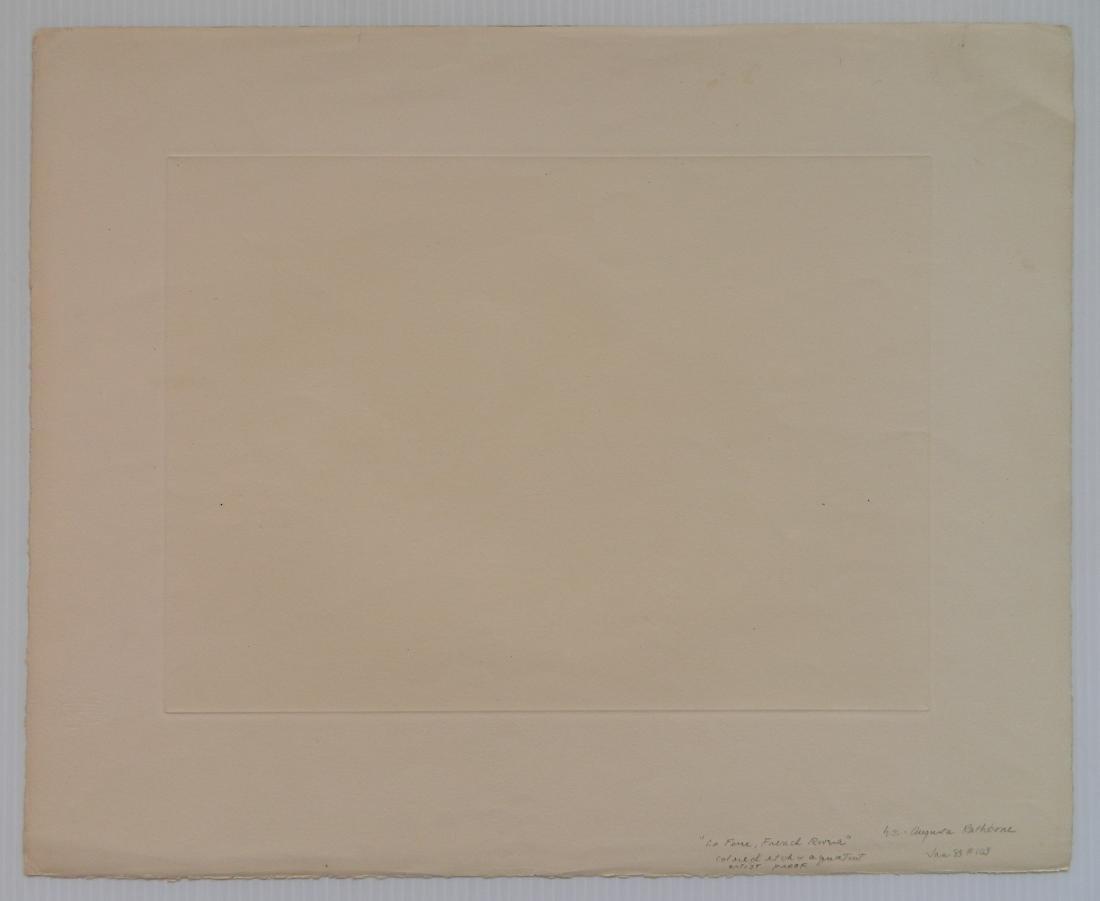 Augusta Rathbone etching and aquatint - 4