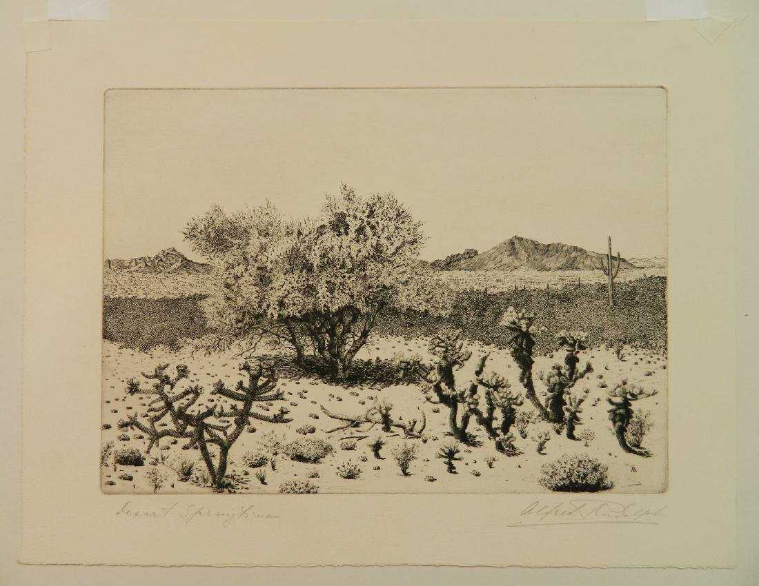 Alfred Rudolph 2 etchings - 2