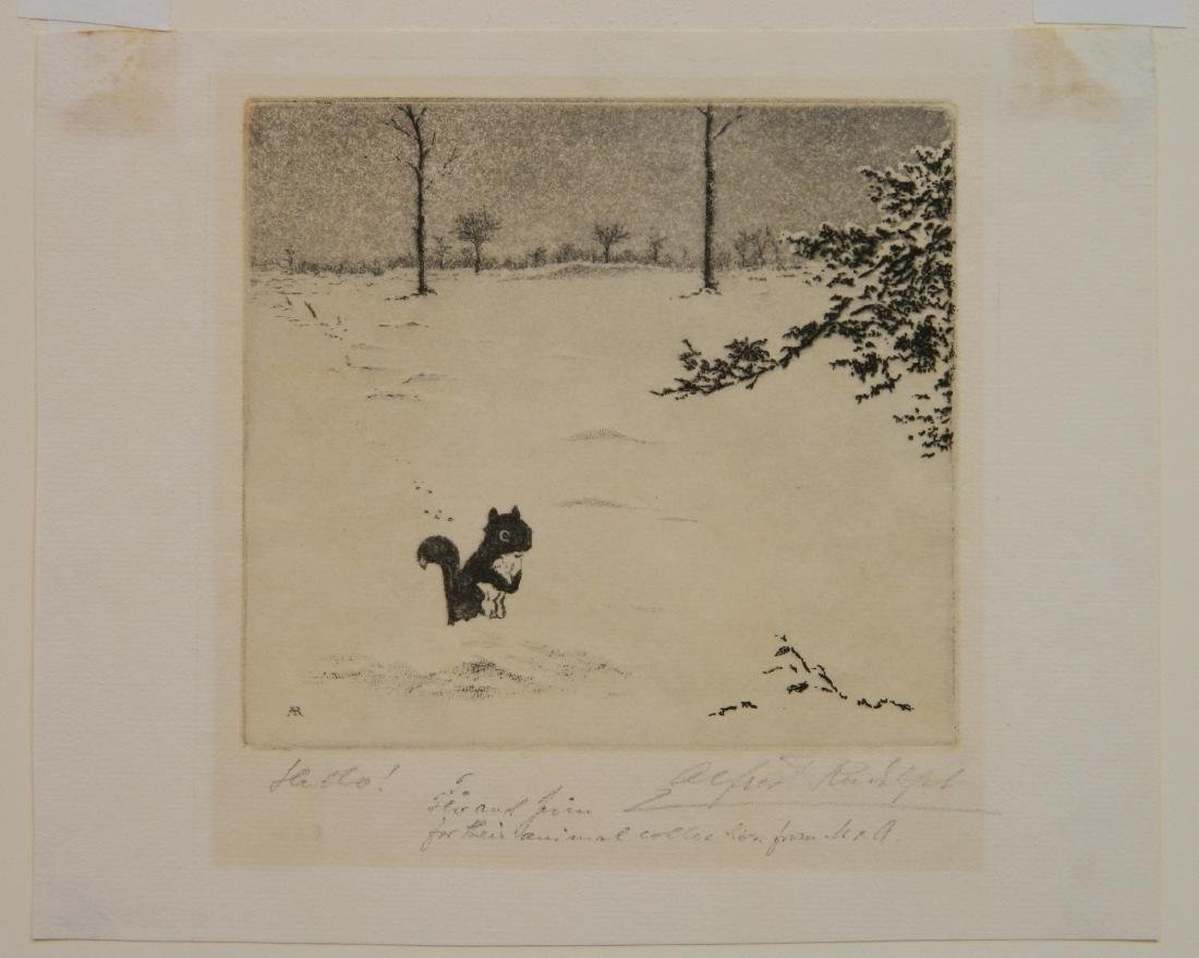 Alfred Rudolph 2 etchings - 5