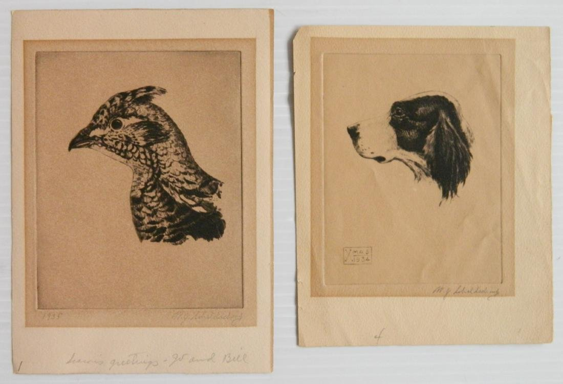 William Joseph Schaldach 5 etchings - 4