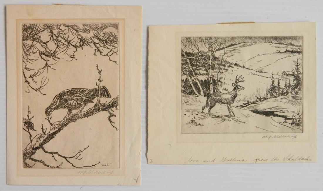 William Joseph Schaldach 5 etchings - 5