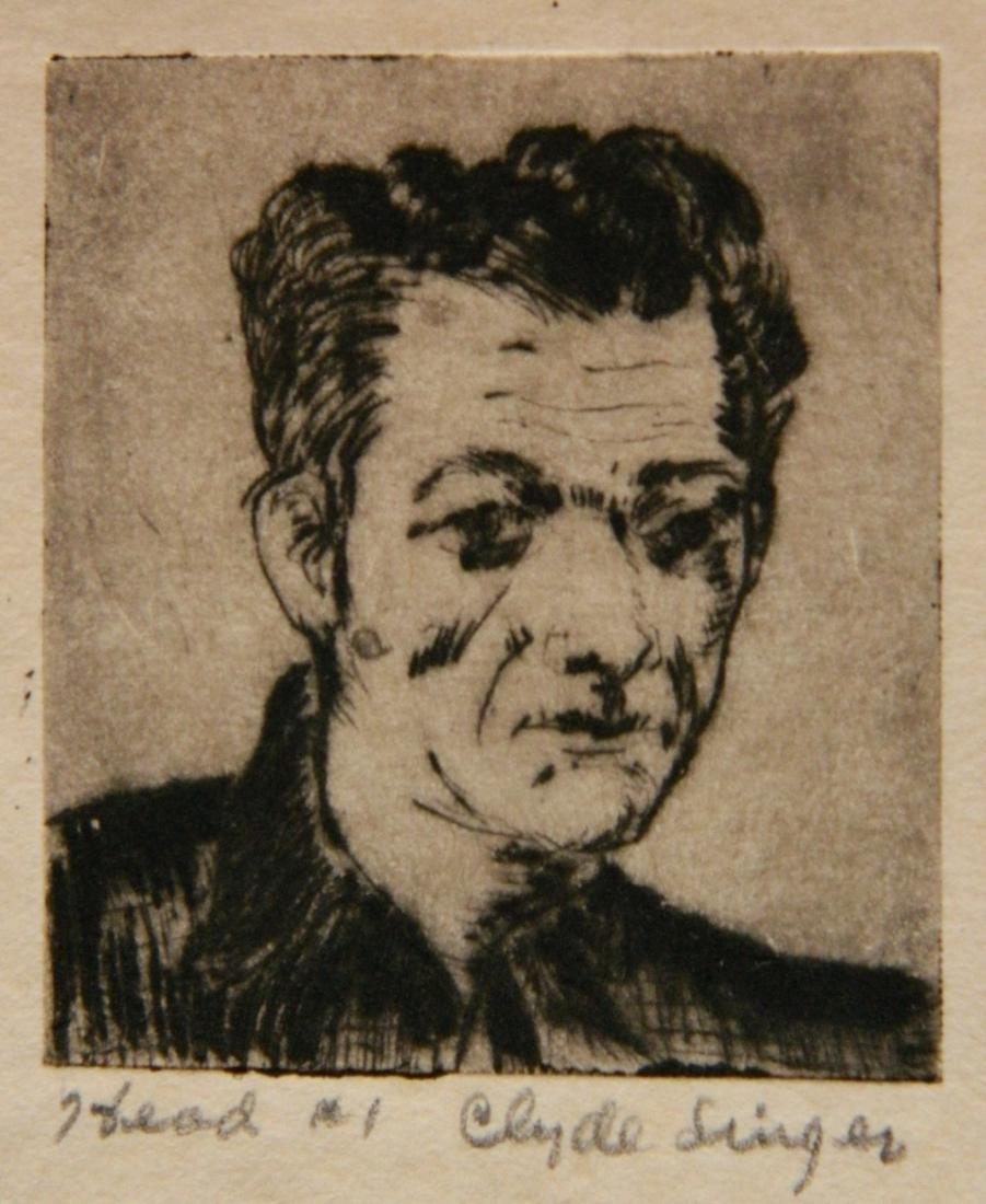 Clyde Singer 4 etchings - 3