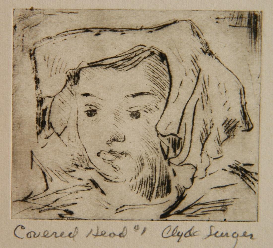 Clyde Singer 4 etchings - 5