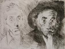 Raphael Soyer etching