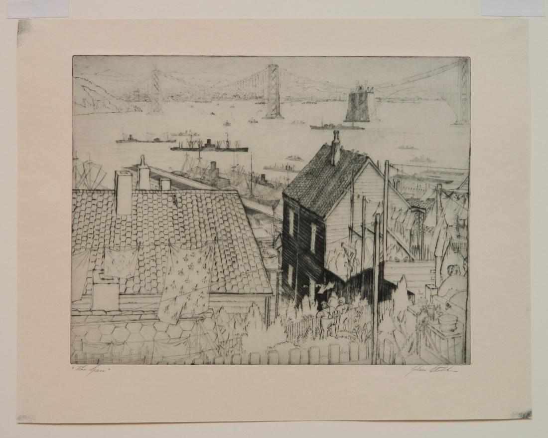 John Stoll etching - 2