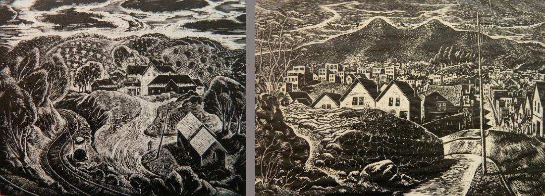 Charles Surendorf 2 woodcuts