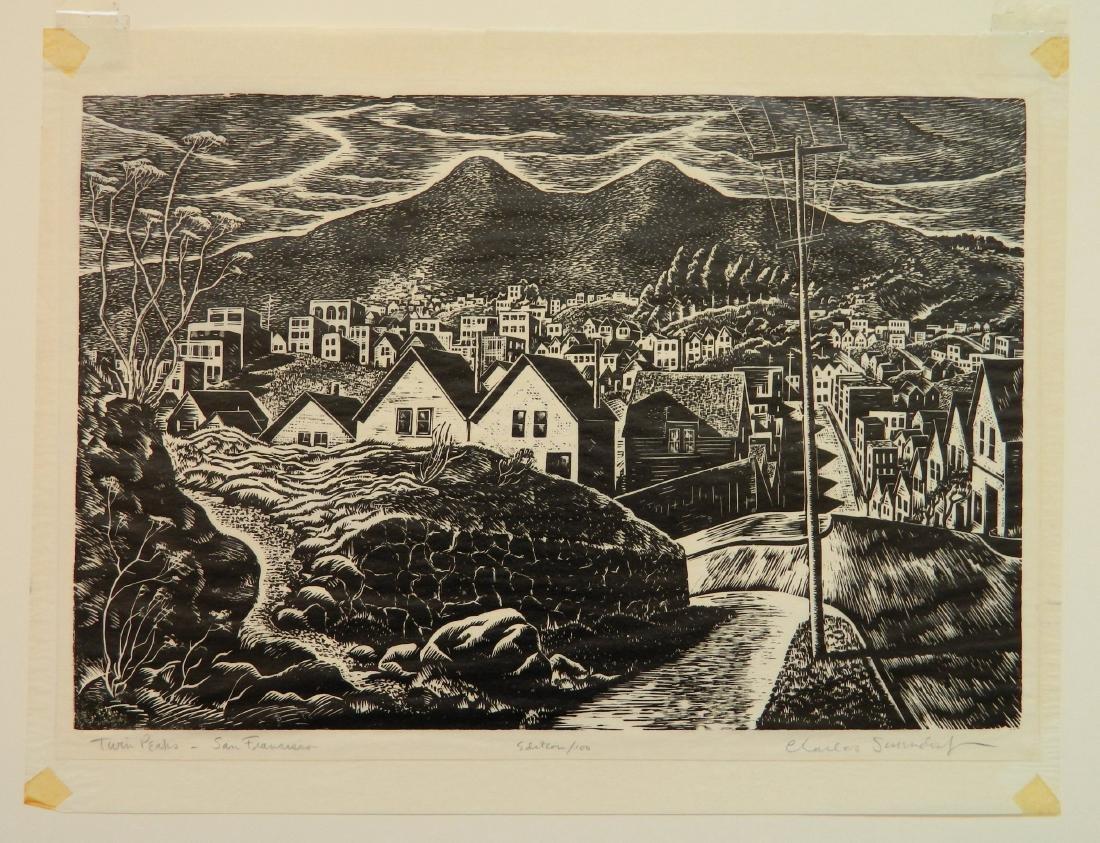 Charles Surendorf 2 woodcuts - 2