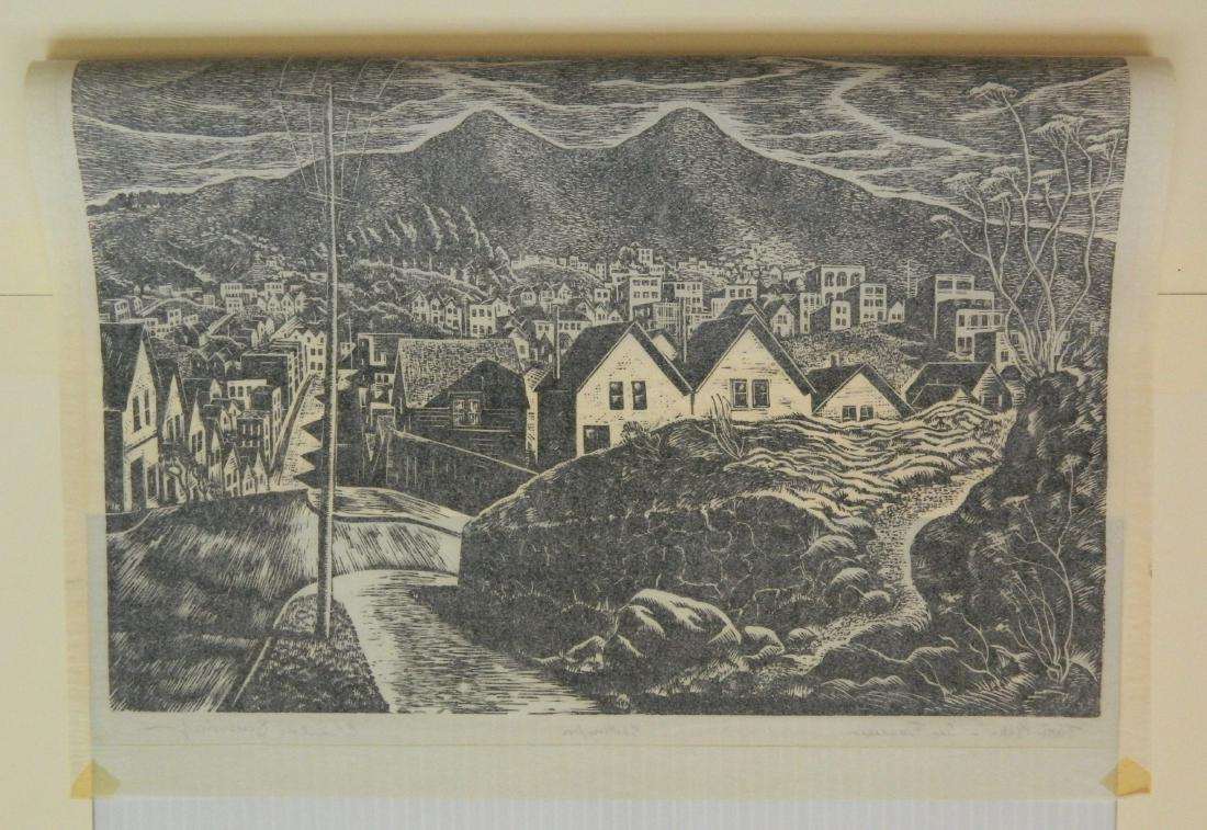 Charles Surendorf 2 woodcuts - 4