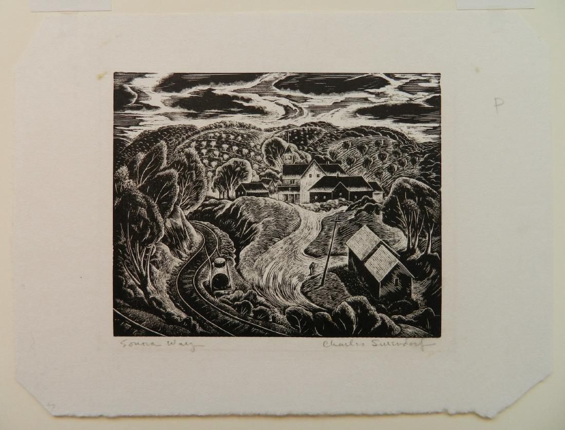 Charles Surendorf 2 woodcuts - 5