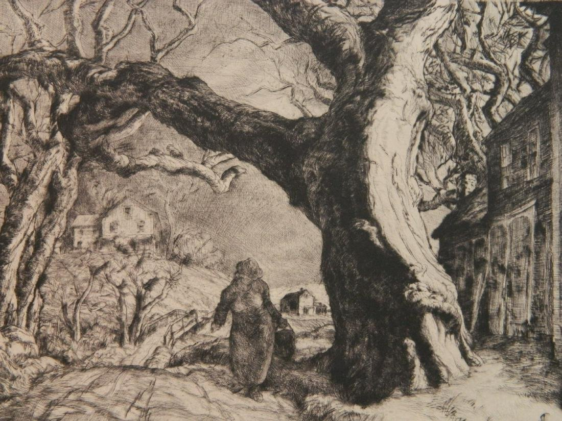 Sam Thal etching and drypoint