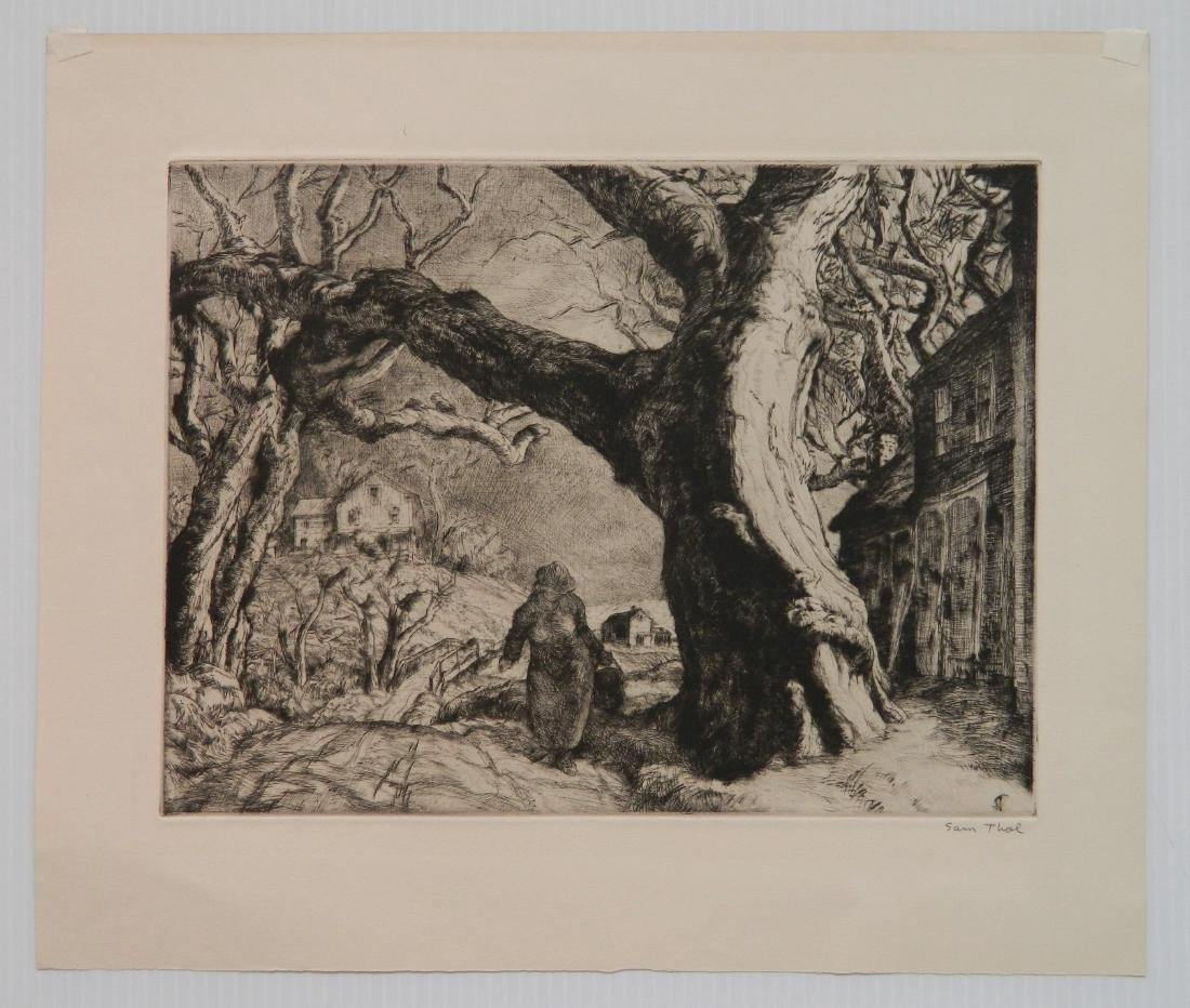 Sam Thal etching and drypoint - 2