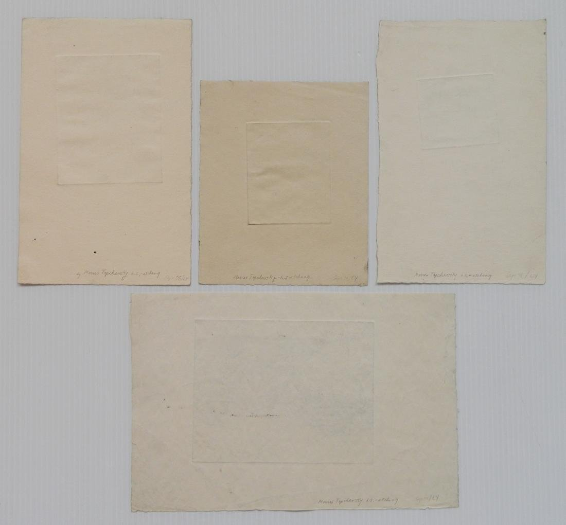 Morris Topchevsky 4 etchings - 2