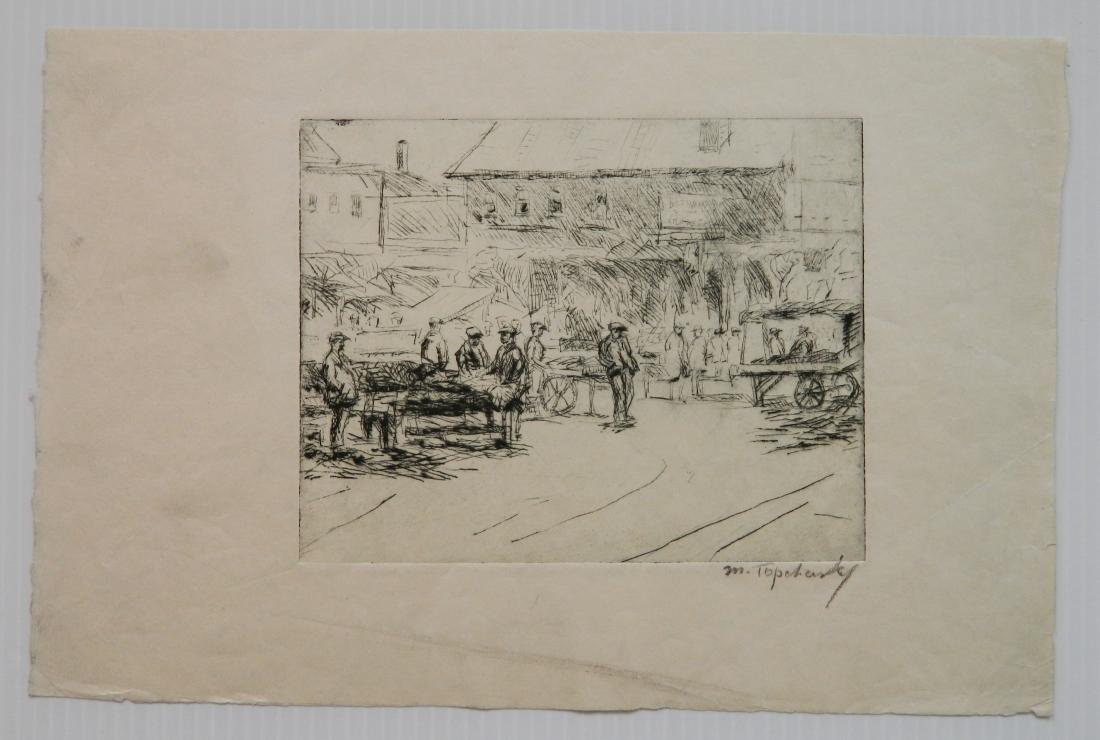Morris Topchevsky 4 etchings - 4