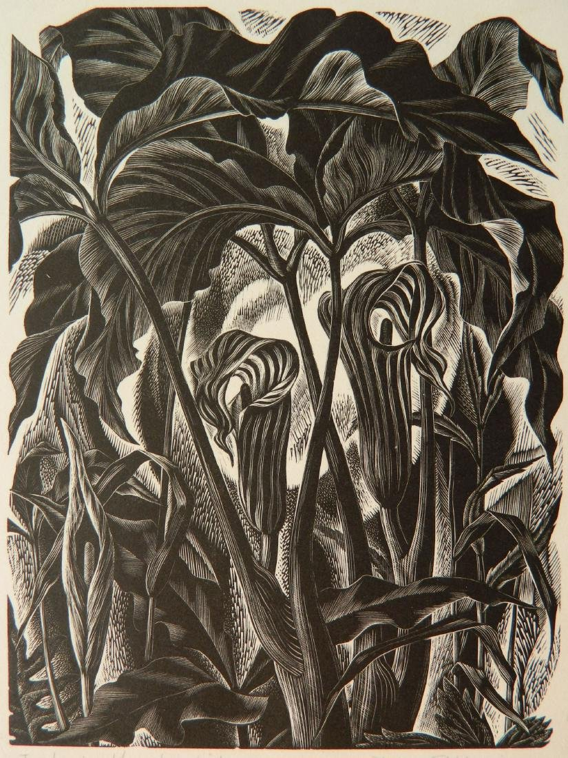 Nora Unwin wood engraving