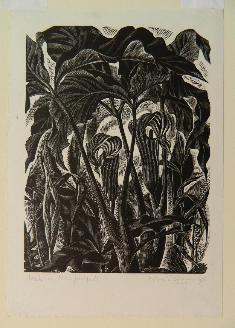 Nora Unwin wood engraving - 2