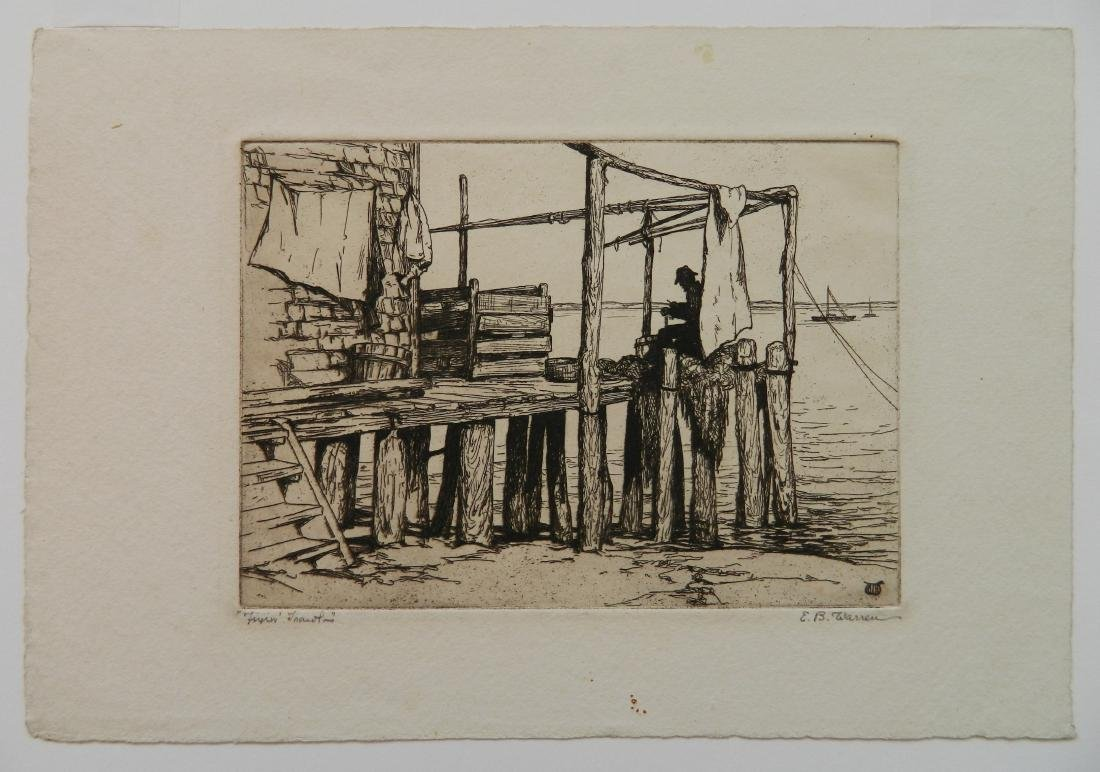 Elisabeth B. Warren 2 etchings - 2