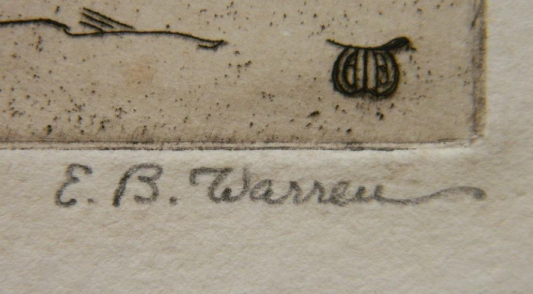 Elisabeth B. Warren 2 etchings - 3