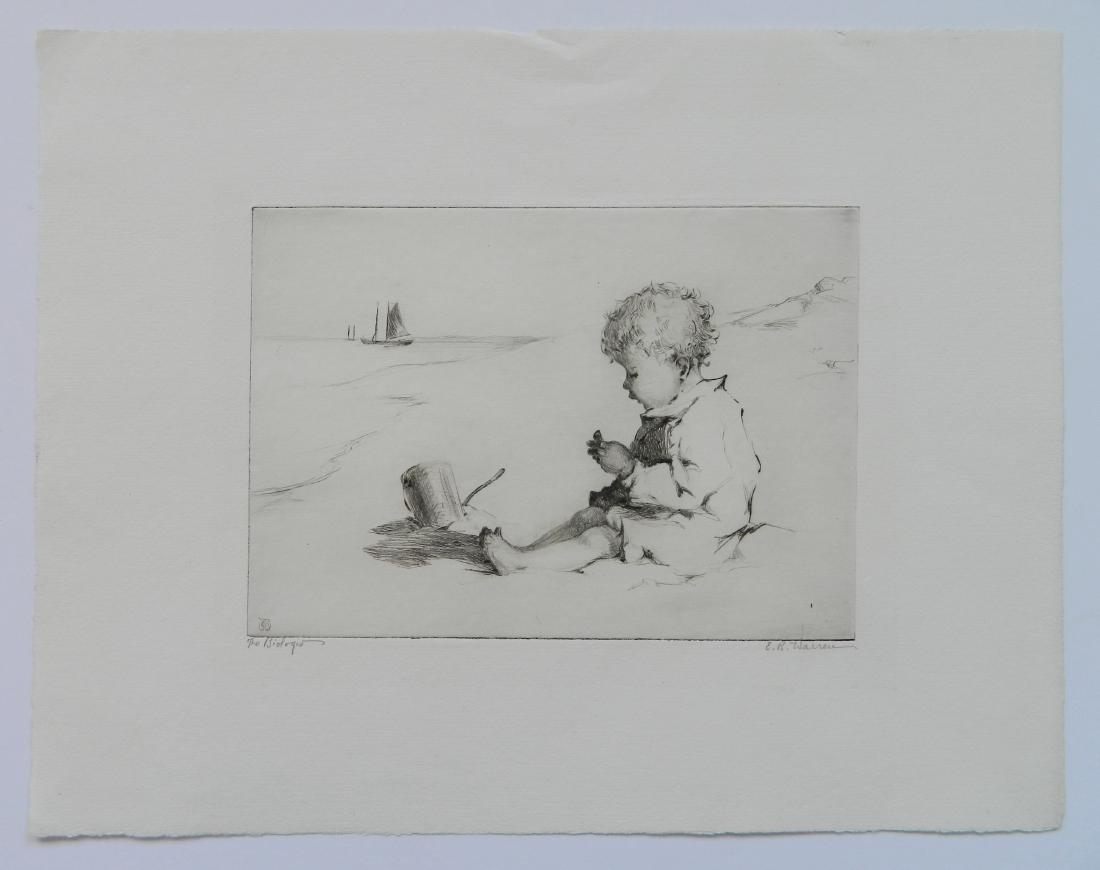 Elisabeth B. Warren 2 etchings - 5