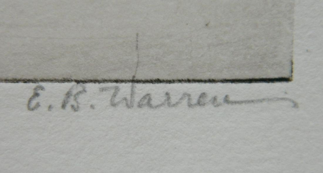 Elisabeth B. Warren 2 etchings - 6