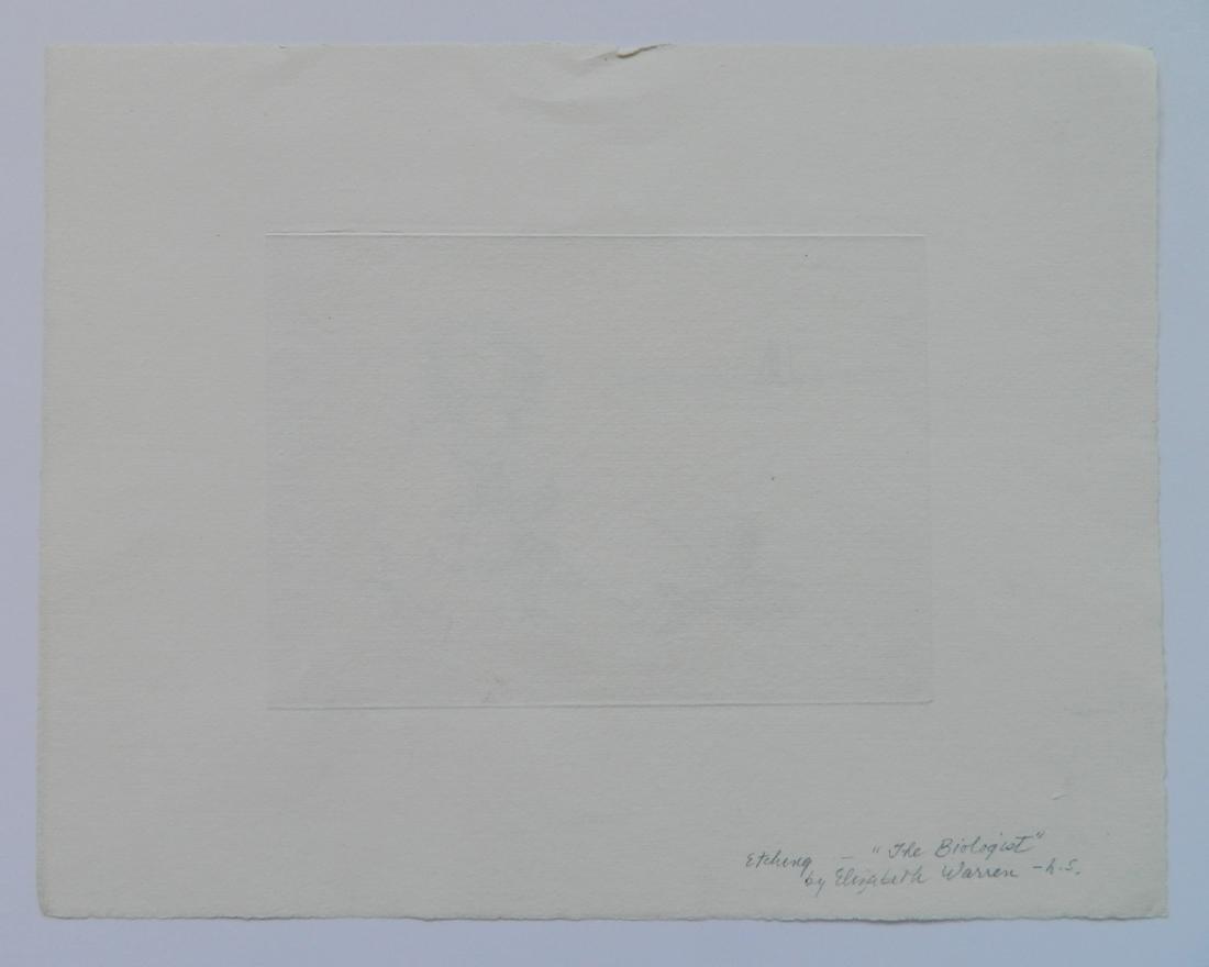 Elisabeth B. Warren 2 etchings - 8