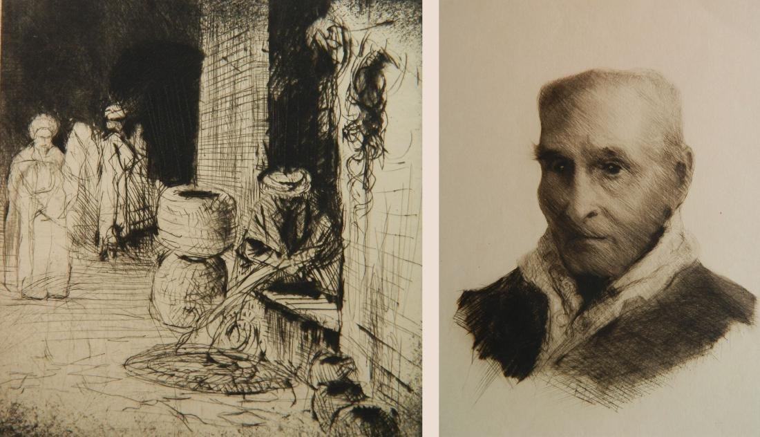 Cadwallader Washburn 2 etchings