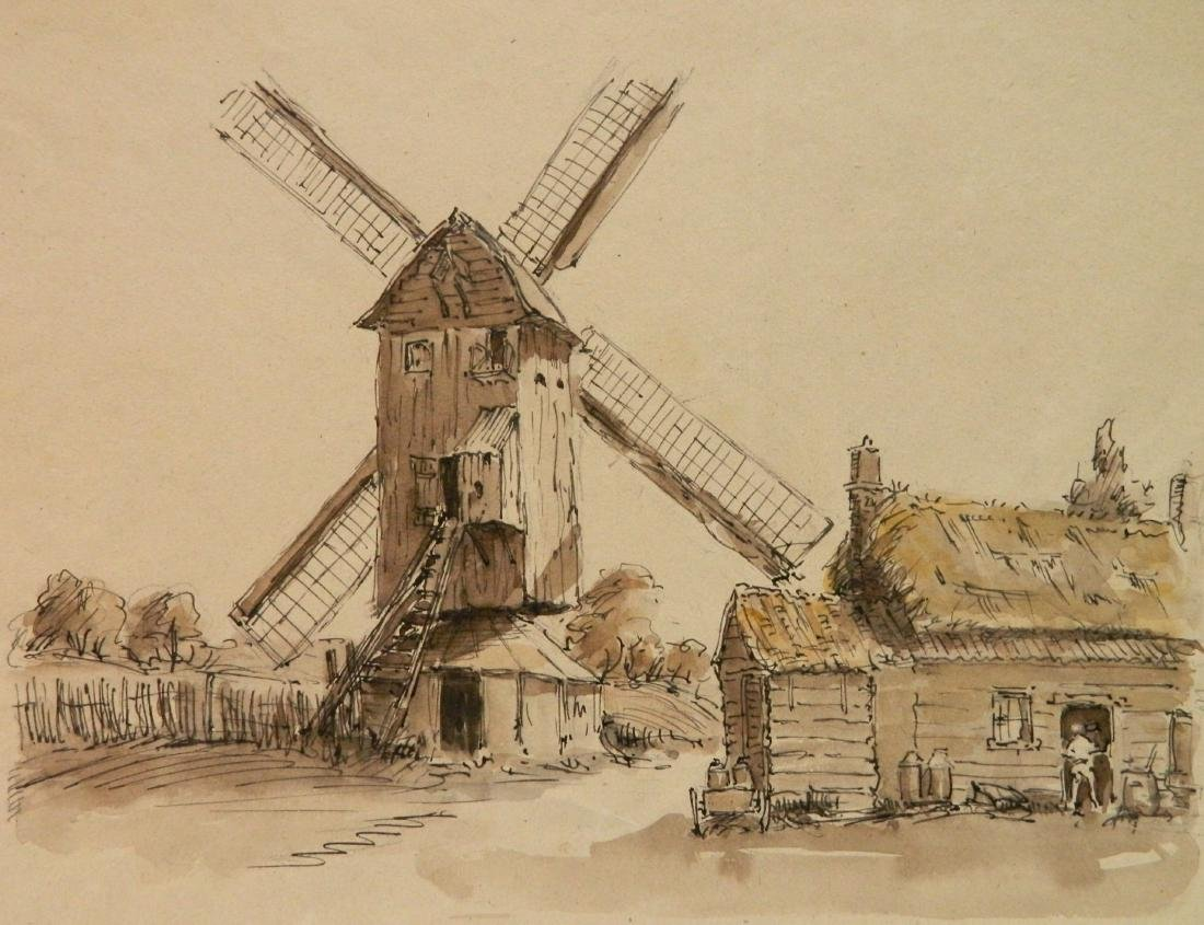 Hermann Armour Webster ink and wash