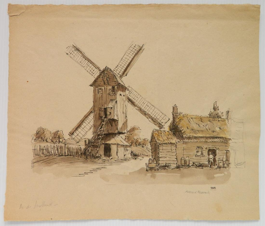 Hermann Armour Webster ink and wash - 2
