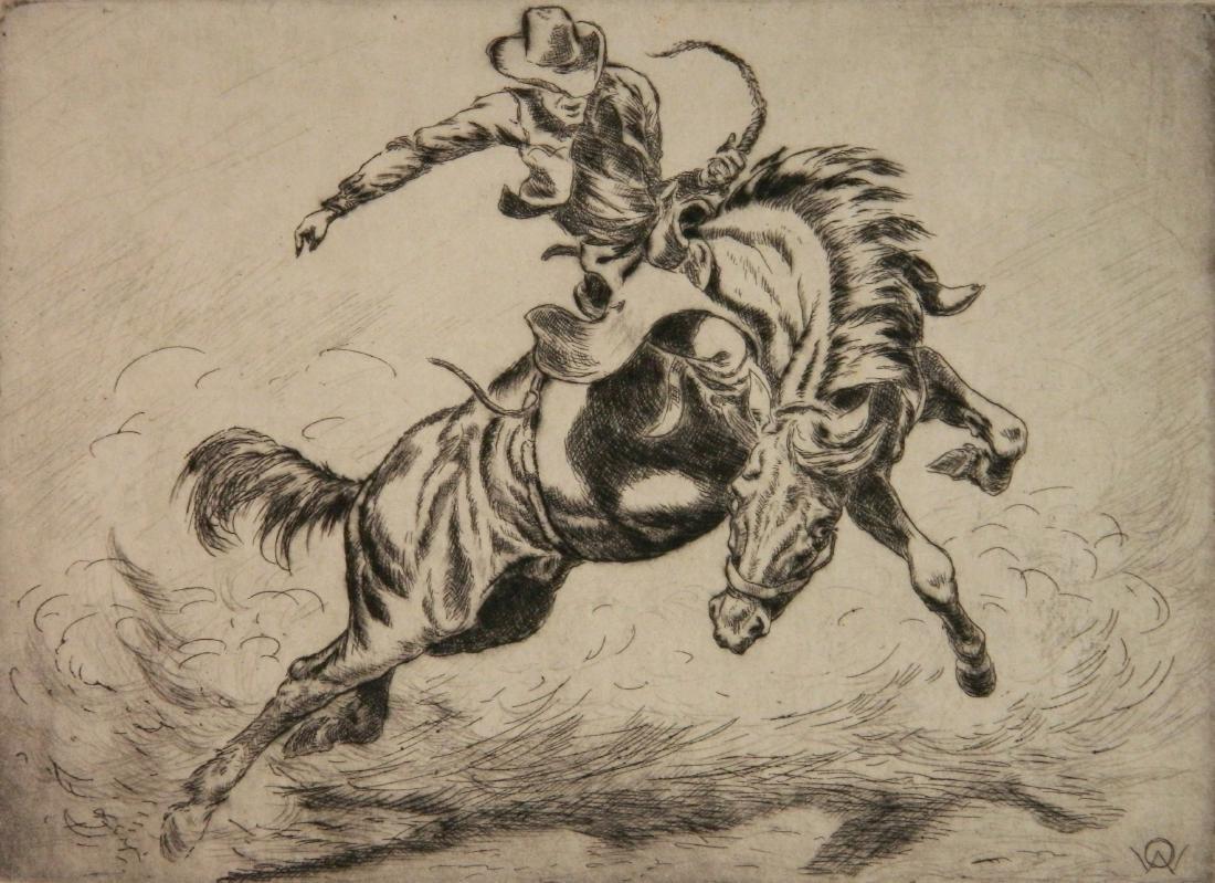 Olaf Wieghorst etching