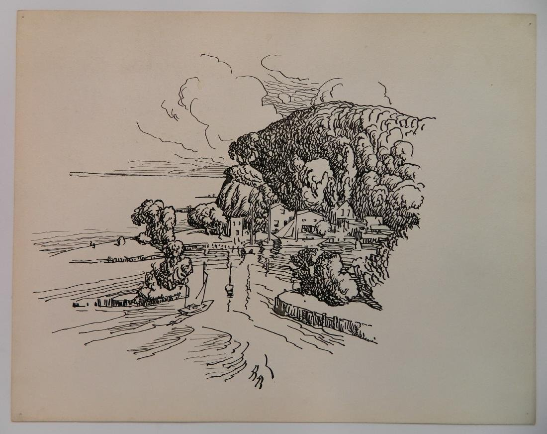 Attributed to Frank Wilcox 4 pen and ink - 3