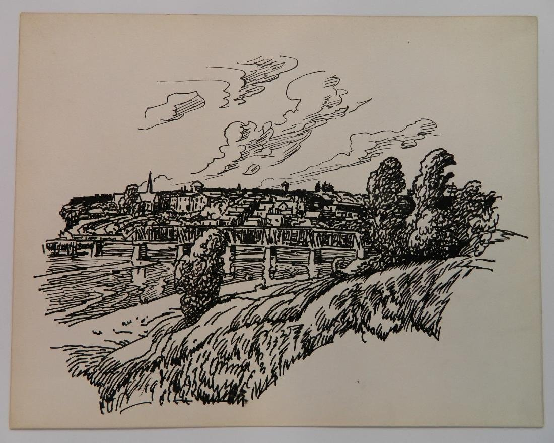 Attributed to Frank Wilcox 4 pen and ink - 5